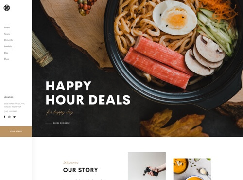 landing-page-home-restaurant-preview Grid Blog